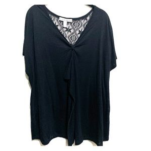 French Laundry Women's plus size 22/24 top. Black